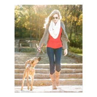 Caminando el perro membretes personalizados