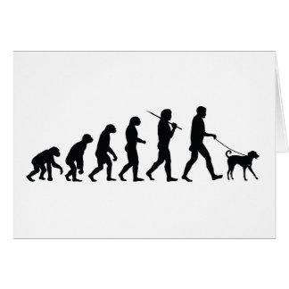 Caminando el perro felicitación