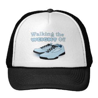 Caminando el peso apagado gorras