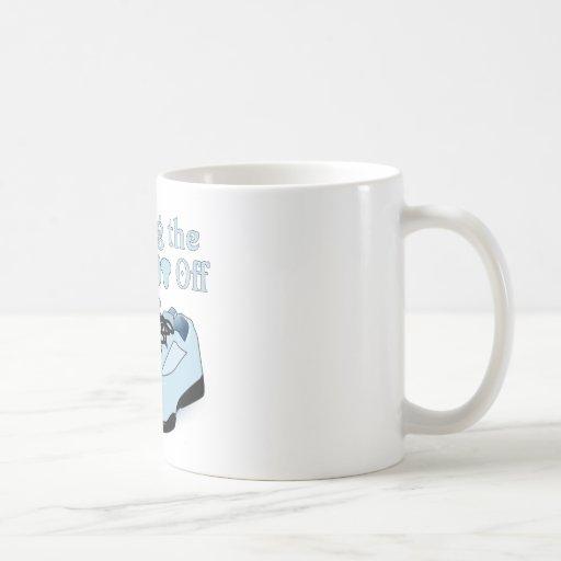 Caminando el peso apagado tazas de café
