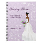Caminando el planificador púrpura del boda del pas libretas