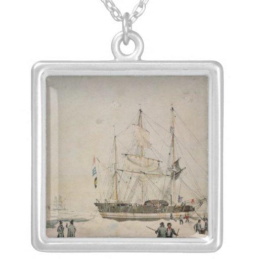 Caminando en el paquete, expedición de Ross, 1842 Collar Personalizado