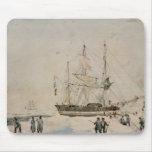 Caminando en el paquete, expedición de Ross, 1842 Tapetes De Ratón