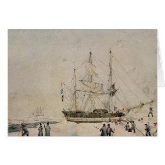 Caminando en el paquete, expedición de Ross, 1842 Tarjeta De Felicitación