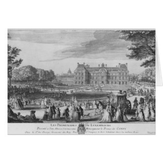 Caminando en los jardines de Luxemburgo, 1729 Tarjeta De Felicitación