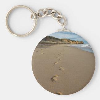 Caminando la playa, gran camino Australia del Llaveros