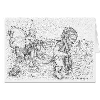 Caminando la tarjeta de felicitación del Gargoyle