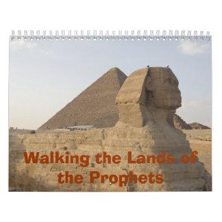 Caminando las tierras de los profetas - calendario de pared