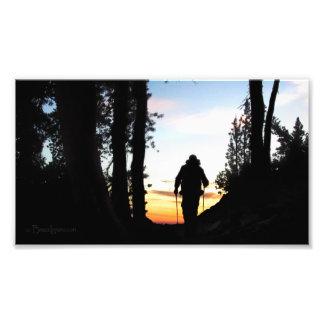 Caminante 2 del rastro de John Muir - montañas de Fotografías