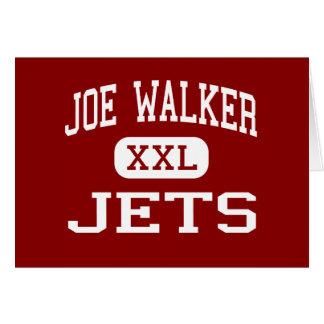 Caminante de Joe - jets - centro - colina del cuar Tarjeta De Felicitación