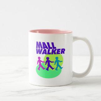 Caminante de la alameda taza de café de dos colores