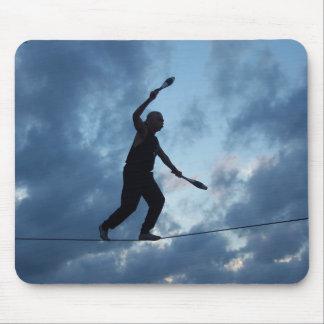 Caminante de la cuerda tirante de Key West Tapetes De Raton
