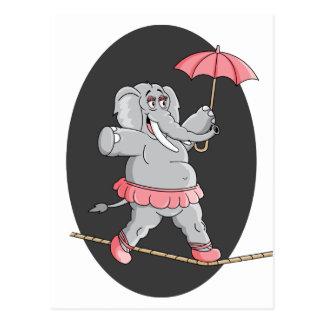 Caminante de la cuerda tirante del elefante postal