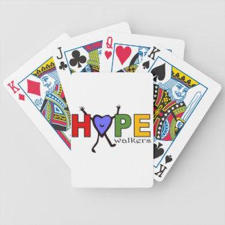Caminante de la esperanza del equipo para el paseo barajas de cartas