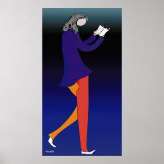 Caminante de la lectura posters