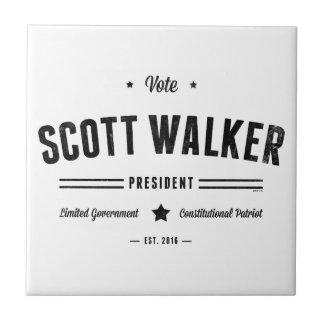 Caminante de Scott del voto Azulejo Cuadrado Pequeño