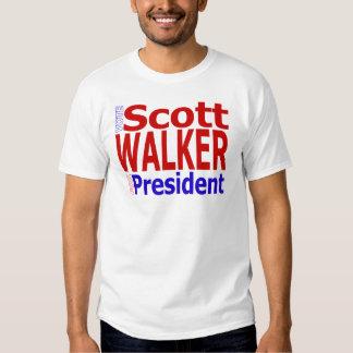 Caminante de Scott del voto para el presidente Poleras