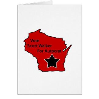 Caminante de Scott para el autócrata Felicitación