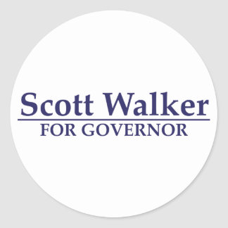 Caminante de Scott para el gobernador Pegatina Redonda