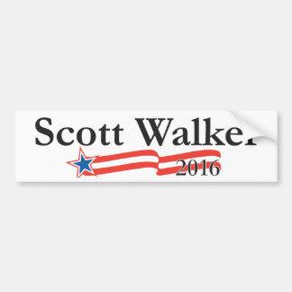 Caminante de Scott para el presidente 2016 Etiqueta De Parachoque