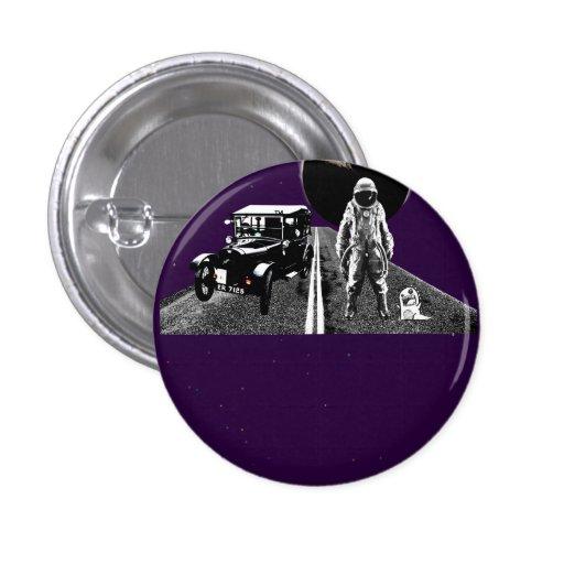caminante de tirón del astronauta pin redondo 2,5 cm