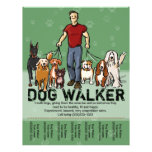 Caminante del perro. El caminar del perro. Flyer A Todo Color