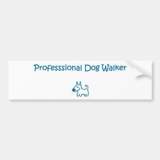 caminante del perro pegatina para auto