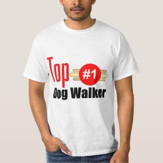 Caminante del perro superior playera