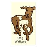 Caminante del perro tarjeta de visita