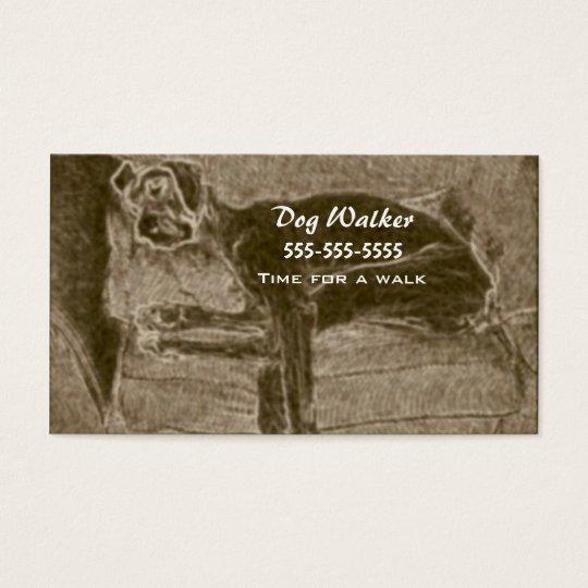 Caminante del perro tarjetas de visita