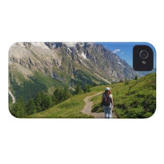 caminante en el valle del hurón, Italia iPhone 4 Cobertura