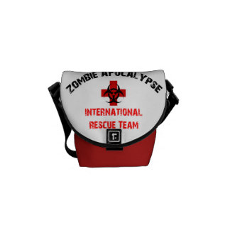 Caminante internacional del equipo de rescate de l bolsa messenger