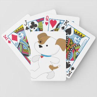 Caminante lindo del perrito barajas de cartas
