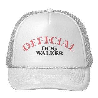 Caminante oficial del perro - rosa gorras