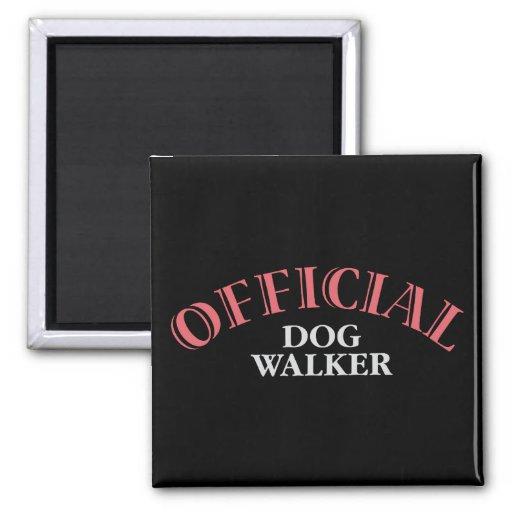 Caminante oficial del perro - rosa imanes
