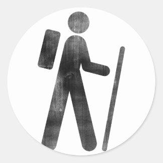 Caminante Etiqueta Redonda