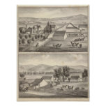 Caminante, residencias de Knittel, granjas Póster