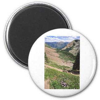Caminantes en Rockies Aspen CO Imán Redondo 5 Cm