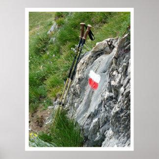 Caminar a postes, marcador del rastro, viaje magní posters