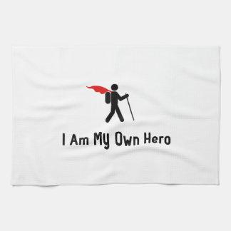 Caminar al héroe toalla de mano