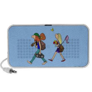 Caminar pares del Hippie iPhone Altavoces