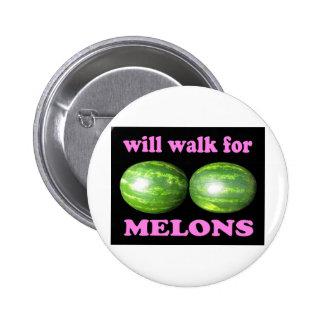 caminará para el negro de los melones con rosa pins