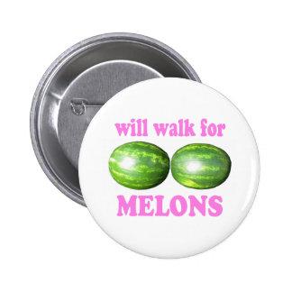 caminará para los melones blancos con rosa pins