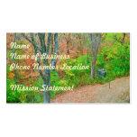 Camine en el bosque plantilla de tarjeta de negocio
