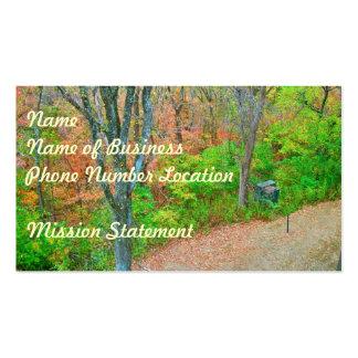 Camine en el bosque tarjetas de visita