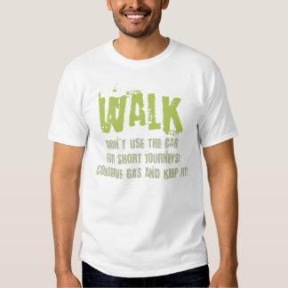 ¡Camine más, permanezca el ajuste y conserve el Camisas