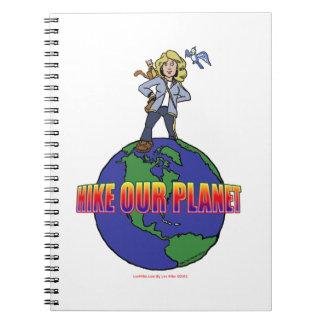 Camine nuestro cuaderno espiral del planeta