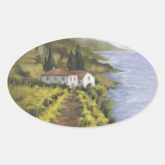 Caminito Vino I Oval Sticker