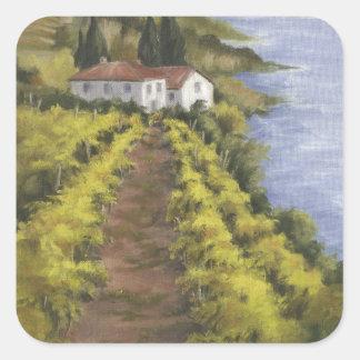 Caminito Vino I Square Sticker