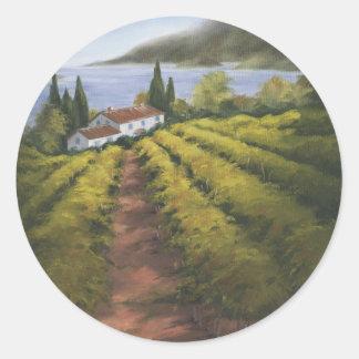 Caminito Vino II Classic Round Sticker